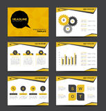 Yellow and black Presentation Template and info graphics,busines Royalty Free Stock Photography