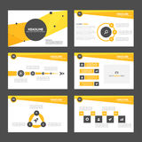 Yellow and black presentation template Infographic elements flat design set for brochure flyer leaflet marketing Royalty Free Stock Photos