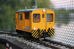 Yellow and Black Rail Train in Closeup Photography Stock Images