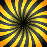 Yellow and black rays. Royalty Free Stock Image