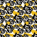 Yellow and Black Rough Abstract Dark Eyes royalty free illustration
