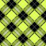 Yellow and Black Scottish Woven Tartan Plaid Seamless Pattern. Vector stock illustration