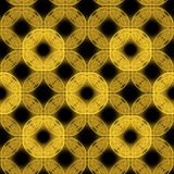 Yellow on black seamless background Royalty Free Stock Images