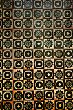 Yellow and black spanish tile with different pattern royalty free stock photos