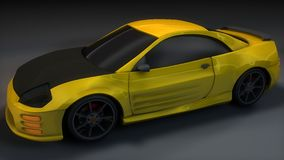 Yellow Black Sports Car Royalty Free Stock Photos