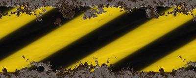 Yellow black stripes Stock Photography