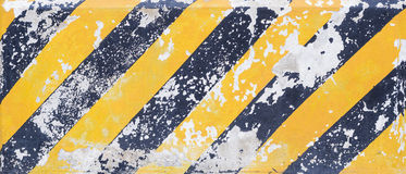 Yellow and black stripes line, caution line Royalty Free Stock Photo