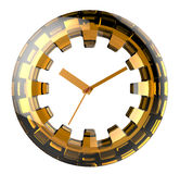 Yellow-and-black Stylized Clock Royalty Free Stock Photography