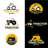 Yellow and black Tractor logo vector set design Stock Images