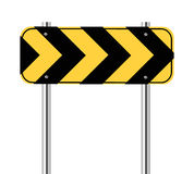 Yellow and black sign Stock Images
