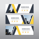 Yellow black triangle abstract corporate business banner template, horizontal advertising business banner layout template flat Royalty Free Stock Photography