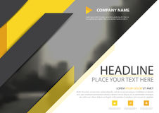 Free Yellow Black Triangle Business Brochure Flyer Cover Vector Design, Leaflet Advertising Abstract Background, Modern Poster Magazine Stock Image - 95027191