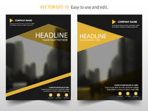 Yellow black Vector annual report Leaflet Brochure Flyer template design, book cover layout design, abstract business presentation