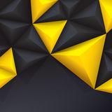 Yellow and black vector geometric background. Stock Photography
