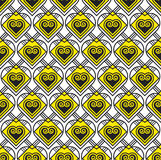 Yellow and black vector pattern Royalty Free Stock Image