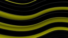 Yellow and black wavy curves abstract 3D rendering. Yellow and black wavy curves. Abstract 3D rendering Royalty Free Illustration