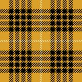 Yellow Tartan Plaid Seamless Scottish Pattern. Yellow, black and white tartan plaid seamless Scottish pattern design stock illustration