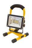 Yellow and black work light on stand Royalty Free Stock Images