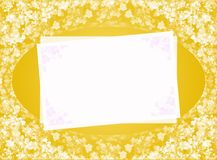 Yellow blank Stock Images