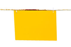 Yellow blank banner Stock Photos