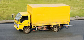 Yellow blank delivery Royalty Free Stock Image