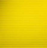 Yellow blank lined notebook paper page Stock Photography