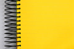 Yellow blank notebook. Close up of yellow blank notebook Stock Photos