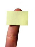 Yellow blank notecard Royalty Free Stock Photography