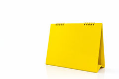 Yellow blank paper desk spiral calendar. Stock Photography