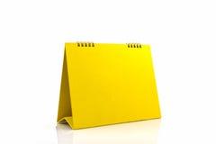 Yellow blank paper desk spiral calendar. Stock Photography