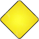 Yellow blank road sign. Royalty Free Stock Images