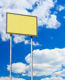Yellow blank sign Stock Photos