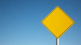 Yellow Blank Sign with Clipping Path Stock Photography