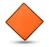 Yellow blank sign plate Royalty Free Stock Photography