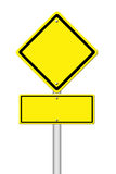 Yellow blank sign on white Royalty Free Stock Photos