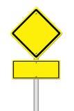 Yellow blank sign on white Royalty Free Stock Photos