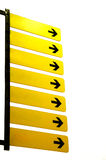 Yellow blank signs with arrows Stock Photography