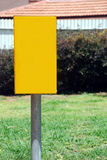 Yellow blank Street Sign Stock Photography