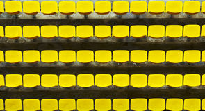 Yellow Bleacher Seats Royalty Free Stock Images