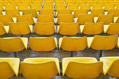 Yellow Bleacher Seats Royalty Free Stock Photo