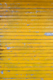 Yellow blind. Old yellow scratched blind Royalty Free Stock Image