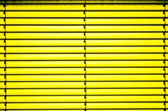 Yellow blinds Stock Photos
