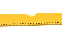 Yellow block level meter with bubble. Royalty Free Stock Photo