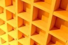 Yellow Block Shelves. Royalty Free Stock Photos