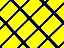 Yellow Blocks. Abstract rows and blocks in yellow and black Royalty Free Stock Image