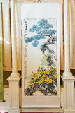 The yellow blooms on the battlefield of Chinese painting memorial hall Stock Photos