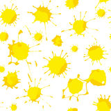Yellow blots. Seamless pattern background. Vector illustrations Royalty Free Stock Photos