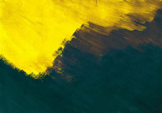 Yellow - blue abstract Stock Image