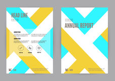 Yellow and Blue annual report Leaflet Brochure Flyer template A4 size design. Book cover layout design, Abstract presentation templates. vector Stock Image