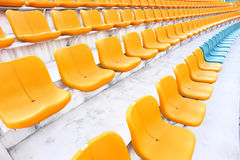 Yellow and blue auditorium  Royalty Free Stock Image